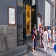 Naples Italy Teatro di San Carlo Front Door Stock Footage