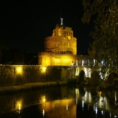 Wonderful Mausoleum in Rome known as Castel Sant Angelo - the Angels Castle Stock Footage