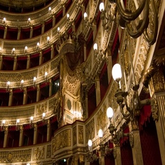Naples Italy Teatro di San Carlo Opulent Interior Stock Footage
