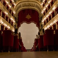 Naples Italy Teatro di San Carlo Low Angle Seating View Stock Footage