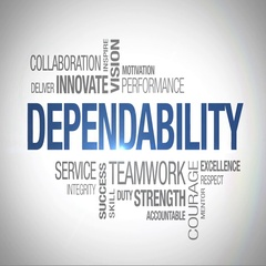 Dependability - Animated Word Cloud Stock Footage