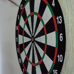 Dart hit the target Stock Footage