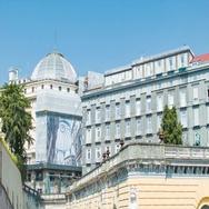 Naples Italy Galleria Umberto Exterior Stock Footage