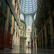 Naples Italy Galleria Umberto Low Angle View Stock Footage