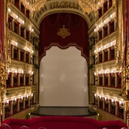 Naples Italy Teatro di San Carlo View from Inside Royal Box Stock Footage