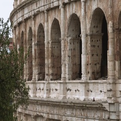 Colosseum in Rome - most famous tourist attraction in the city - Colosseo di Stock Footage