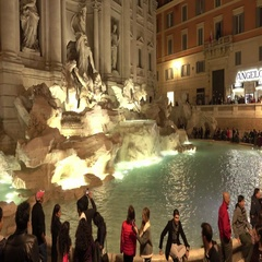 Famous Trevi Fountains in Rome called Fontana di Trevi Stock Footage