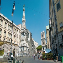 Naples Italy Obelisco dell'Immacolata Monument Stock Footage
