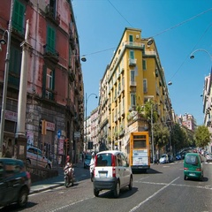 Naples Italy Vibrant Neapolitan City Street Scene Stock Footage