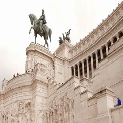 National Monument Vittorio Emanuele in Rome Stock Footage