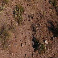 Looking Straight Down Over the Arizona Desert  	 Stock Footage