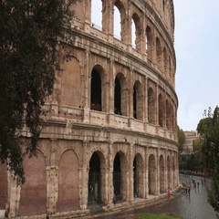 Rome Colisseum - a popular landmark in the city Stock Footage