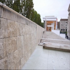 Modern Ara Pacis Museum in the City of Rome Stock Footage