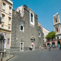 Naples Italy Church of Gesù Nuovo Stock Footage