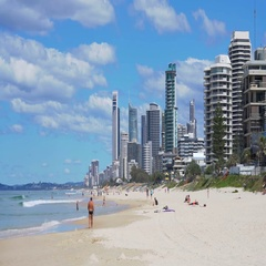 4k video of a beach in Gold Coast, Australia Stock Footage