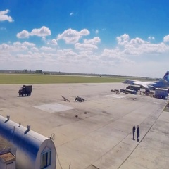 Time lapse flights at the airport Stock Footage