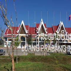 Luangprabang int airport Stock Footage