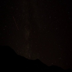 Starlapse over Badlands campground Stock Footage