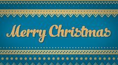 Merry Christmas blue background Stock Illustration