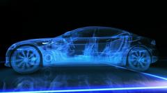 Abstract 3D Car Animation Stock Illustration