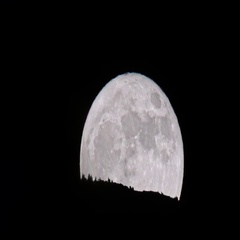 Supermoon By the Sandia Mountains in ABQ Fast Stock Footage