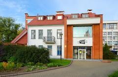 Building of Museum of History of Belorussian cinema, Minsk, Belarus Stock Photos