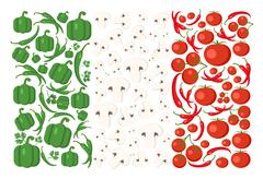 Italy flag from Vegetables. Stock Illustration
