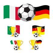 Italy vs germany soccer Stock Illustration