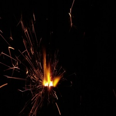 Sparkler on black background also can represent a fuse Stock Footage