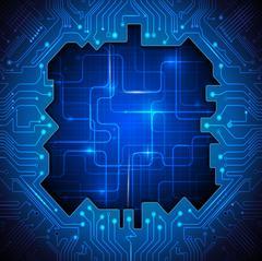 Vector Circuit board. Abstract futuristic technology Stock Illustration