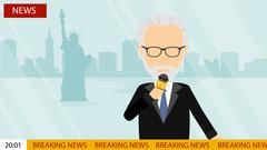 Breaking news on tv. Stock Illustration