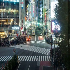 Shibuya road crossing in Tokyo Stock Footage