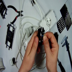 Collect power plug of the extension cord on Stock Footage