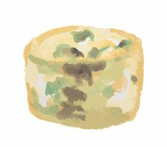 Watercolor blue cheese. Stock Illustration