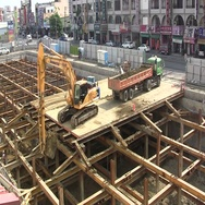 Chinese construction site (time lapse) Stock Footage