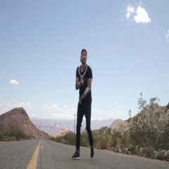 Guy dancing break dance on the road Stock Footage