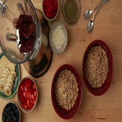 Acai Bowl Healthy Smoothie Sequence Stock Footage
