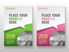 Cover template for books, magazine, brochures, corporate presentations. Stock Illustration