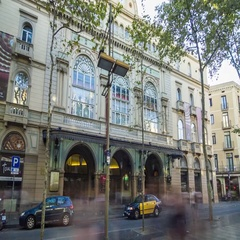Hyperlapse of the teater del Liceu in Barcelona, Spain. Stock Footage