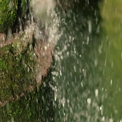 Slow Motion Water Splashing on Cement Stock Footage