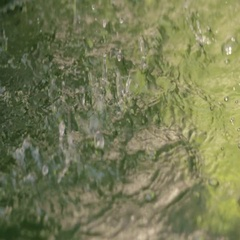 Slow Motion Water Splashing from Fountain Stock Footage