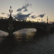 Trinity Bridge. St. Petersburg, Russia. Russia Stock Footage