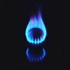 Gas burning from a kitchen gas stove. 4k Stock Footage