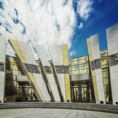 Timelapse of the Museum of the Great Patriotic War History. Minsk, Belarus. Stock Footage