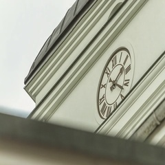 Timelapse of the City Hall's clock in Minsk, Belarus. Stock Footage