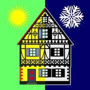 Home Energy Audit Stock Illustration