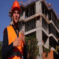 Trustful Engineer Presentation Look Camera Positive Under Construction Building Stock Footage