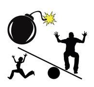 Explosive Conflict Stock Illustration