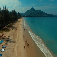 Aerial: Fly out from the beautiful beach. Stock Footage