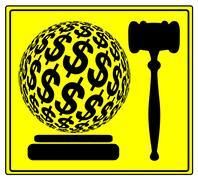 Monetary Penalty Stock Illustration